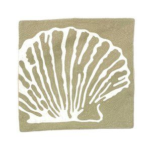 Textured Beige Seashell Pillow Cover